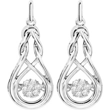 Dangle Earrings 925 bijoux en argent avec bijoux en diamant de danse