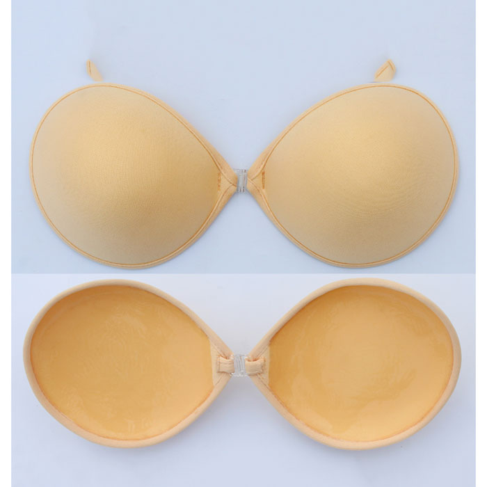 Soft Backless Strapless Padded Stick On Bra With Support