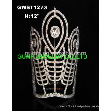 Tiaras y coronas al por mayor del desfile del rhinestone