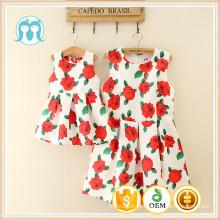 2016 padrões de flores novo designer de meninas de um vestido de festa vestido de festa