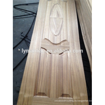 Moldura de madera para la decoración de la puerta de diseño de la puerta del tablero de la puerta