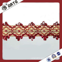 Clothing Decorative Polyester Braid Ribbon Lace Textile Loop Fringe