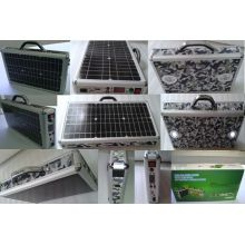 10W Solar Power System Portable Case Box with Lithium Battery From ISO Factory
