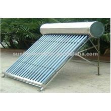 Chauffe-eau solaire tubulaire Thermosyphon en acier inoxydable