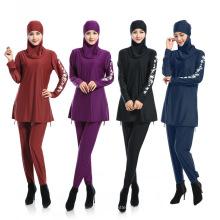 Garantia de qualidade vestuário islâmico maiô meninas swimwear swimwear muçulmano