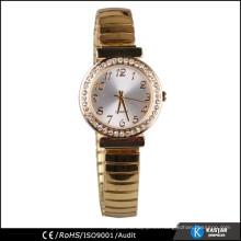 El reloj del bisel del diamante mira la señora de oro vogue el reloj