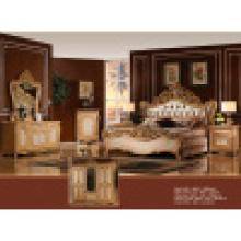 Домашняя мебель с антикварной царя шкаф кровать (W810)
