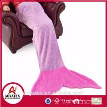 precio razonable súper suave paño grueso y suave de franela Mermaid Tail manta