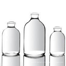 Прозрачные литые флаконы для инъекций для антибиотиков, ISO / Sfda 20 мм USP типа I, II, III