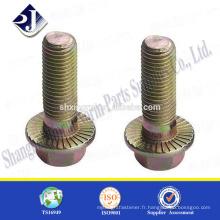 Fabriqué en Chine Zinc a terminé un boulon à bride hexagonale de bonne qualité