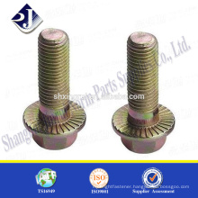 Made in China Zinc finished good quality hex flange bolt