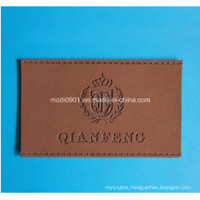 Cumtomized Top Quality Leather Tag Clothing Leather Label with Metal Logo Jeans Leather Patches for Garment