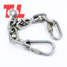 Cadena de eslabones largos de cadena de acero inoxidable 1/4