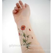 A etiqueta pequena do tatuagem do tamanho CMYK da fonte da fábrica aplica-se à pele da criança com preço competitivo,