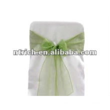 Organza chair sash and buckles