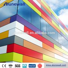 Panel compuesto de aluminio de la fachada de la decoración de la pared interior de alto brillo