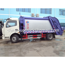 DFAC Duolika 6CBM Container Garbage Compactor Truck