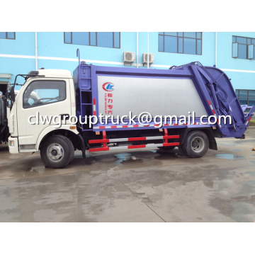 DFAC Duolika 6CBM Container Garbage Truck Compactor