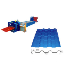 Galvanized Steel Glazed Till Roof Panel Roll Forming Machine