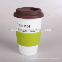 300ml KERAMIK DOPPEL WAND KAFFEE CUPS, Keramik Doppelwand Reisebecher, spülmaschinengeeignet Keramik Tasse