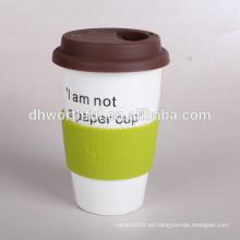300ml TAZAS DE CAFÉ DE PARED DE CERÁMICA DOBLE, tazas de cerámica de viaje de pared doble, taza de cerámica segura para lavavajillas
