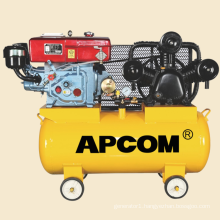 AW9016 8hp 16bar 30CFM 100 liter air tank automobile tire inflation portable diesel air compressor