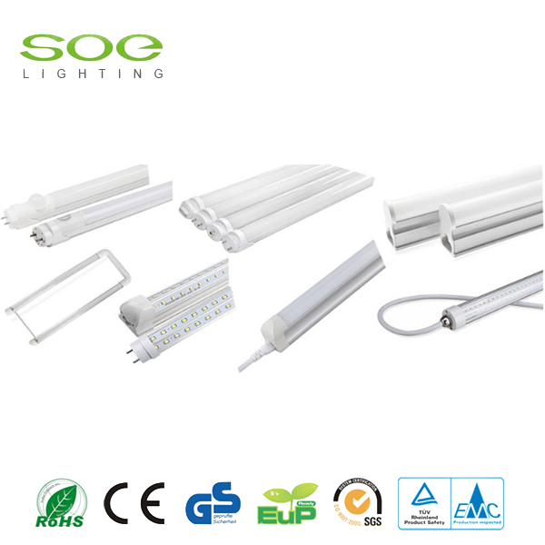Plastic square integrated T8 LED tube light