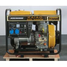 6kw Diesel Genset KAIAO Gerador Elétrico Pequeno Uso Doméstico Genset 8600E