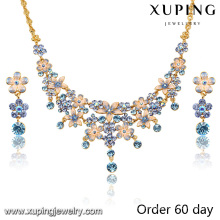 S-7 Xuping 2016 último diseño de moda popular perlas africanas conjunto de joyas
