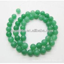 Perles de pierres aventurines vertes en forme de 8MM