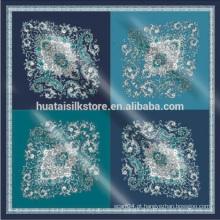 Moda italiana paisley grandes lenços de seda