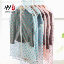 Saco de roupa não tecida dobrável à prova de poeira transparente do fato do vestuário da roupa