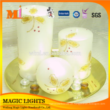 6 Polegada Multi-coloridas Pilar Art Candle
