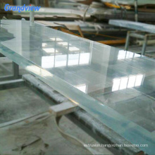 Excellent Polished acrylic swimming pool glass wall panels