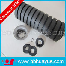 Impact Roller Rubber Coated Steel Conveyor Idler Rollers for Industry Plant