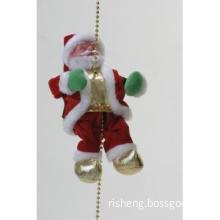 "10"" Climbing Musical Santa Claus"