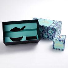 Caja de regalo de empaquetado del juego de té de papel de lujo de la cartulina