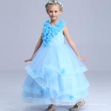 Fußbodenlänge-Tanzkleid-königliche Parteiprinzessin kleidet Kinder süße Kleidung reizende Babymädchen-Blumenmädchenkleider