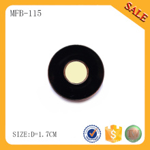 MFB115 Beliebte schwarze Farbe Metall Druckknopf