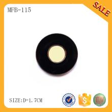 MFB115 Botón negro popular de la prensa del metal de la pintura
