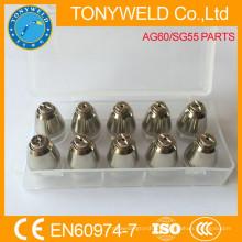 AG60 SG55 плазменной газовой резки сопла резки совет