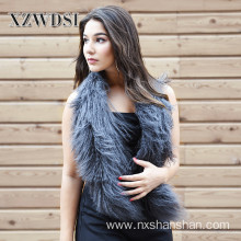 Hot Selling Winter Warm Mongolian Lamb Fur Scarf