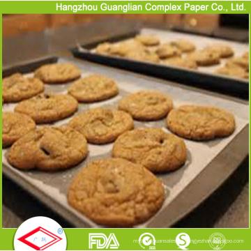 Rollos y hojas de papel de hornear resistentes a la grasa a prueba de grasa del horno resistente al calor de la FDA
