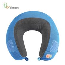 Atacado U forma vibração massagem travesseiro com música