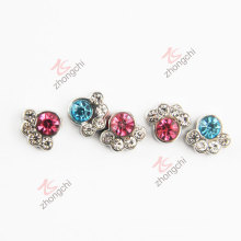 Small Colorful Stone Metal Paw Charms (FC)