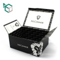 CMYK Printing Black Soft Paper Box For Your Logo Design