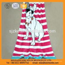 Toalla de playa de la impresión reactiva de encargo del modelo del perro del fabricante de China