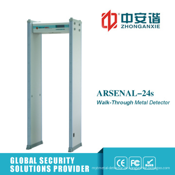 Audio Alarm 18 Zonen Zugangskontrolle Metalldetektor Tor