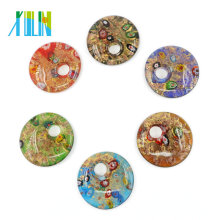 Hot sale Art Round Lampworked Glass Millefiori Pendants with Hole 12pcs/box, MC0020