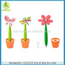 Все виды стилей цветок стол ручка для промо-подарки